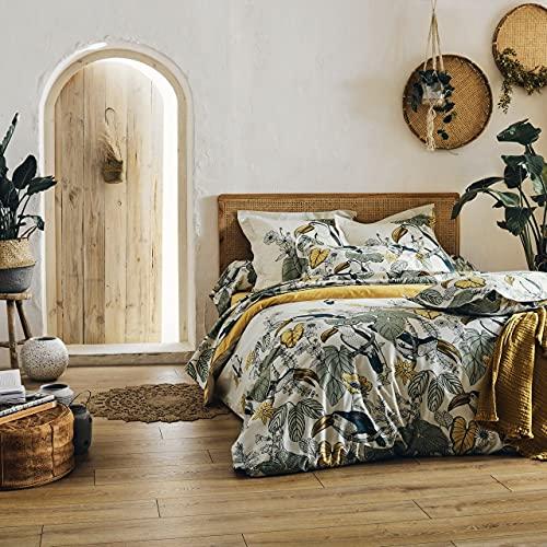 Tradilinge ~ Juego de cama Toco Verde de algodón HC~200 x 200 + 2TO