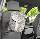 Clean Ridez Car Garbage Can with Flip Open Lid & Vinyl Leakproof and Removable Liner