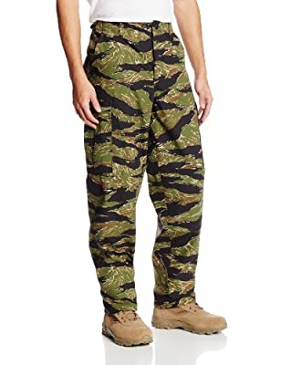 TRU-SPEC Men's Rip Stop BDU Pant - Large - Tiger Stripe