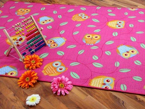 Snapstyle Kinder Spielteppich Eule Lila Pink Rosain 24 Größen