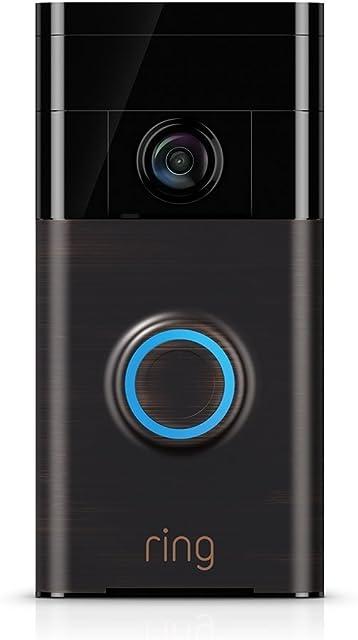 Ring Video Doorbell | Con notificaciones activadas por movimiento vídeo HD y comunicación bidireccional
