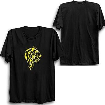 Lion Dire Wolf Round Neck T-Shirt black