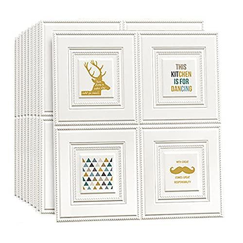SHUAIGE Láminas de pared 3D de 70 x 77 cm, impermeables, azulejos de pared, azulejos de pared, azulejos de puerta, cocina, 30 unidades, color: 6