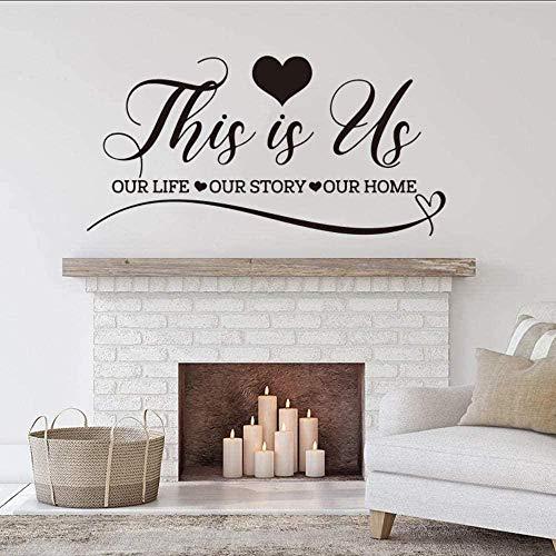 Etiqueta de la pared de PVC extraíble calcomanía de pared flor invitado familia amor citas cuerpo humano pareja interior sofá fondo 111x56cm