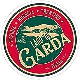 Vijk kor Lago Di Garda, Playera del Lago de Garda Italia + Pegatinas (3 Unidades/Paquete)