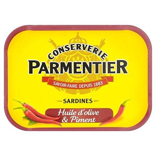 Parmentier H. Sardines D'Huile d'olive Et Piment 135G - Paquet de 6