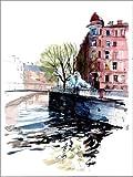 Poster 70 x 90 cm: Löwenbrücke Sankt Petersburg Russland