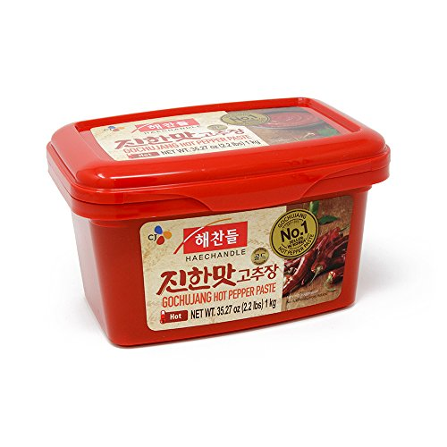 CJ Haechandle Gochujang, Hot Pepper Paste, 1kg (Korean Spicy Red Chile Paste, 2.2 lbs.)