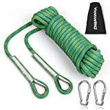 RENRANRING Outdoor Climbing Rope 10M(32ft) Static Rock Climbing Rope, Escape Rope Ice Climbing Equipment Fire Rescue Parachute Rope (Green)