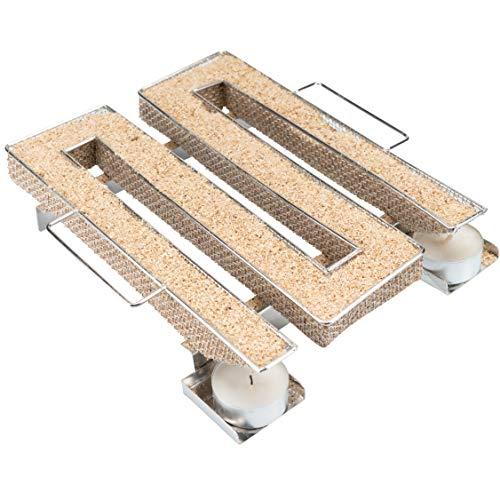 riijk Kaltrauchgenerator zum Kalträuchern im Smoker, Grill usw. | Räucherschnecke eckig M-Shape – Sparbrand Kaltraucherzeuger | Räucherspirale für Räucherspäne
