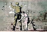 Banksy Poster Soldat und Mädchen (59cm x 42cm) + Ü-Poster