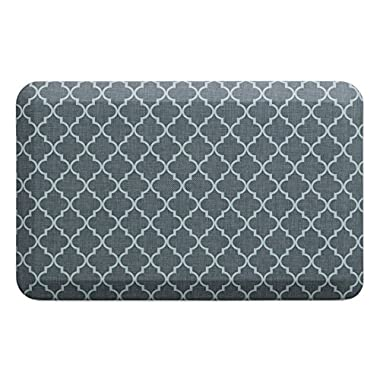 "NewLife by GelPro Anti-Fatigue Designer Comfort Kitchen Floor Mat, 20x32"", Lattice Mineral Grey Stain Resistant Surface with 3/4"" Thick Ergo-foam Core for Health and Wellness"