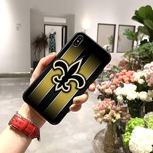 QWP Caja del teléfono de los Santos de Nueva Orleans Rugby Negro...