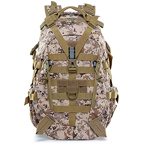 LKOP Backpack Military Backpack 25L Army Rucksack Waterproof Outdoor Sports Hiking Backpack Assault Pack Tactical Combat Backpack for Outdoor Hiking Camping Trekking Fish Camouflage yellow