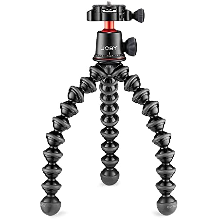 Joby Gorillapod 3K Pro Kit, Includes Stand & BallHead with QR Plate, 6.Lb Load Capacity, Black/Charcoal/Red