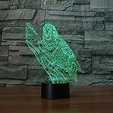 Nouveau Parrot Visual Slide Transparent Acrylique Night Light Leprechaun Changement...