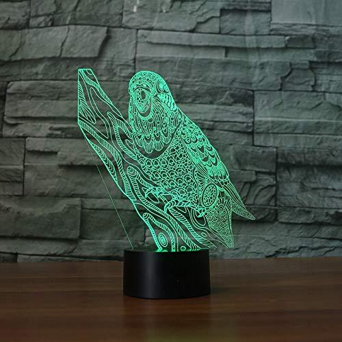 Neue Papagei visuelle Folie transparentes Acryl Nachtlicht Kobold Farbwechsel Touch Tabelle Birne Birne