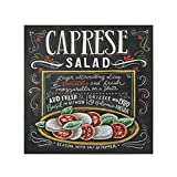 artboxONE Poster 30x30 cm Typografie Caprese Salat Rezept