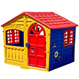 Palplay 0716051 Indoor & Outdoor Plastik Spielhaus, Multicolor