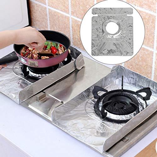 Family Cleaning Supplies 2 PCS Gas Fornuis Beschermers Tableware Print Foil Hittebestendige Anti-Fouling Liner Schoonmaken Keuken Gereedschap Mat keuken