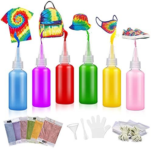 Pintura Para Tela Tinte Ropa Tie-Dye Kit Tinte para Ropa 14 Colores Tintes Textiles Brillantes Tie Dye Juego De Tie-dye Textil Hecho A Mano De Bricolaje