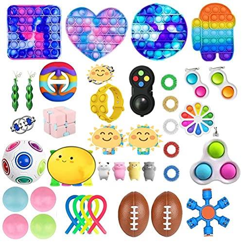 CaCaCook Fidget Toys Pack Barato, 43 Piezas Juguetes Sensoriales, Juguetes AntiestréS Pack,...