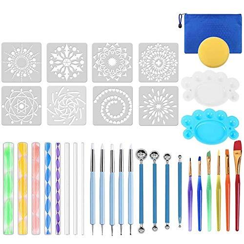 Cetemies Mandala Rock Punktierung Werkzeuge, 35 Stück Dotting Tool Dot painting für DIY Rock Malerei Polymer Clay Keramik Nail Art Handwerk Zeichnung Drafting