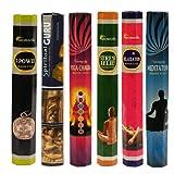 ARO VATIKA Hexa Combo Pack 'C' (6 Boxes X 20 Sticks=120 Sticks) Incense Sticks Spiritual Guru,Yoga Chakra,7 Power,Stress Relief,Meditation,Relaxation