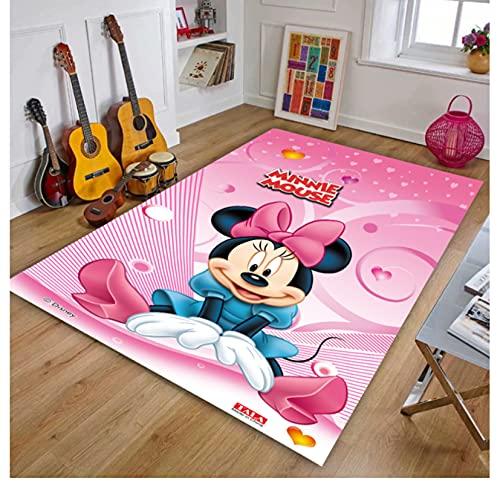 VVEDesign Alfombra Alfombras De Área Mickey Minnie Mouse Anime Chilren Bebé Alfombra Antideslizante Alfombra De Sala De Estar Alfombra Antideslizante 140X200 Cm