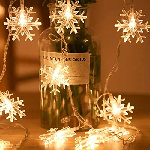 N-brand Christmas Battery USB Remote Control Led Snowflake Christmas Tree String Lights Indoor and Outdoor Waterproof Decoration Small Lanterns Holiday Hanging Lights Flashing Lights Layout