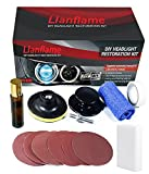 LIanflame Headlight Restoration Kit, Manual & Automatic Headlight Cleaner, Polish Headlight Lens Restore Cleaner with UV Protection - 3 Easy Steps Headlight Cleaning Kit for Long Lasting Protection…
