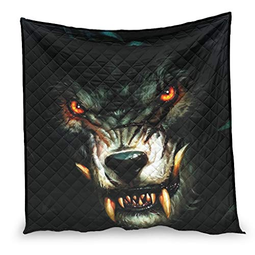 YshChemiy Wolf Animal Cotton Blankets Quilt Couch Giant Sofa Comfortable Embossed Quilt Bedding Bedspread white 130x150cm