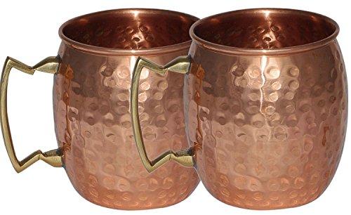 Stylla London Mule Mug martelé laqué Finition Indien Pliables, Cuivre, 7.7 x 4.7 x 4 cm