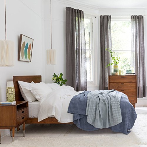 100% Pure French Linen - King Size Duvet Cover - White