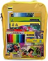 Classmate Stationery Kit Bag - Drawing Book, Sketch Pen, Oil Pastel, Eraser, Crayons, Notebook, Scale, Sharpener, Octane...