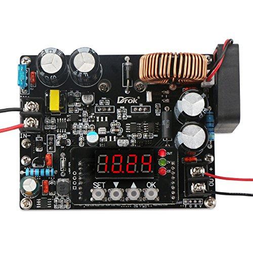 Droking DKP6012 10V-75V DC Control numérico Tablero de alimentación Regulable Paso-Abajo estabilizador tensión Constante Corriente eléctrica Voltaje módulo regulador de tensión medidor de Capacidad