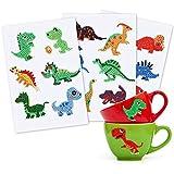 Gxhong Animales Diamantes Stickers Dinosaurio Diamond Painting para Niños DIY 5D Diamante Stickers Kit de Pintura para Coche, Bicicleta, Equipaje, Portátil, Dormitorio, Funda Viaje