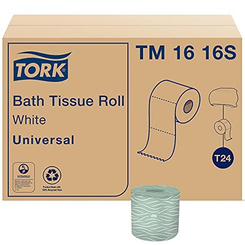 Tork Toilet Paper Roll White T24, Universal, 2-Ply, 96 x 500 sheets, TM1616S