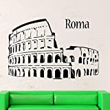 Vinilo Decorativo Pegatina Pared Calcomanía Anfiteatro Coliseo Roma Italia Turismo Inicio Diseño de interiores Arte Murales para sala de estar dormitorio