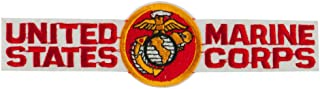 Military Related Text Embroidered Patch - USMC W03S09C