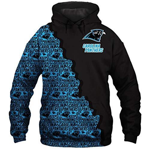 HS-HWH316 American Football Carolina Panthers New Hoodie Gedruckt Pullover Atmungsaktiv Anti-Pilling Soft-Casual Wear Training Bekleidung Super Bowl Fans Geschenk,L