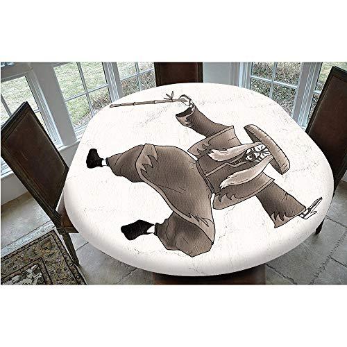 Mantel elstico resistente a las manchas, estilo oriental, con maquillaje y disfraz, mantel decorativo, apto para mesas ovaladas/Olbong de 24 x 122 cm, para comedores y cocinas Umber W
