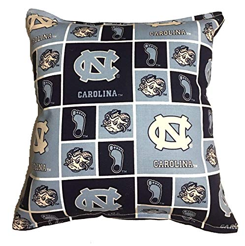 North Carolina University Pillow Tar Heels Pillow All Our Pillows Are Handmade Hypoallergenic Cotton with Flannel Backing