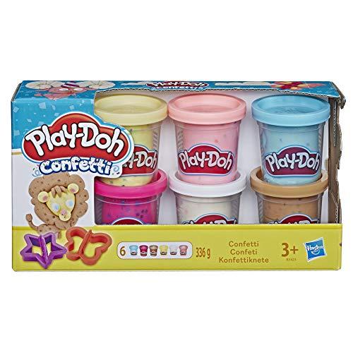 Hasbro Play-Doh-A5417EU8 Play-Doh 6 Vasetti di Pasta da Modellare Sparkle (con Glitter), A5417EU8