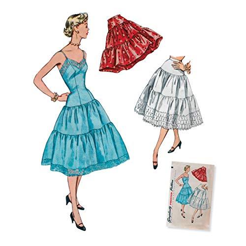 Simplicity 8456Pattern 8456 Damen Vintage Petticoat und Slip, Papier, weiß, D5 (32-36-38-40)