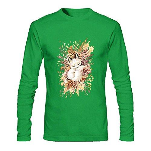 LOVELIN - Camiseta de Manga Larga para Hombre, diseño de Zorro