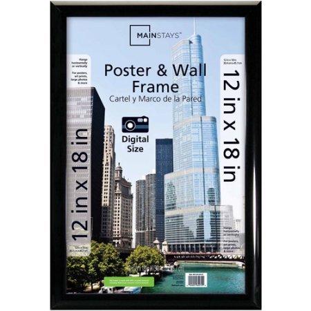 Mainstays 12x18 Trendsetter Poster Frame, Black
