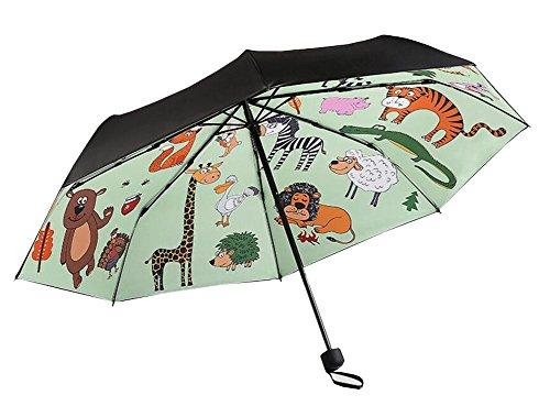 Black Temptation Parapluie Pliable Pliable Anti-UV Parasol Cartoon Animals