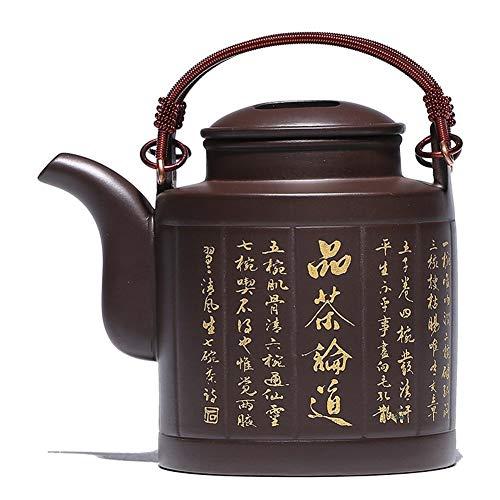 MDYHJDHYQ Teiere Zisha Pot Yixing Miniera Originale Fango Viola Barilotto di Sollevamento Vaso Teiera Fatta a Mano Set da tè Vintage Fatto a Mano (Color : Purple Mud)