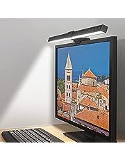 Computer Monitor Light LED ScreenBar, Bureaulamp met Auto-Dimmen en 3 Verstelbare Kleurtemperaturen, Geen Screen Glare Ruimtebesparende Home Office Bureaulamp